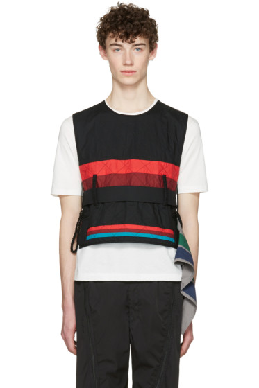 Craig Green - Black Cotton Diamond Vest