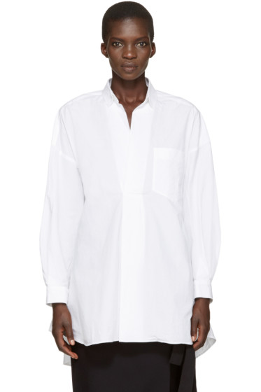 Enfold - White Flared Blouse