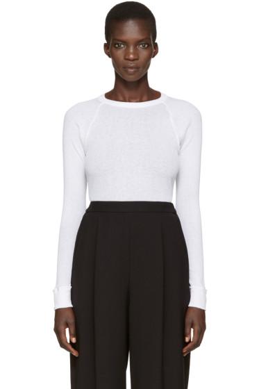 Enfold - White Ribbed T-Shirt