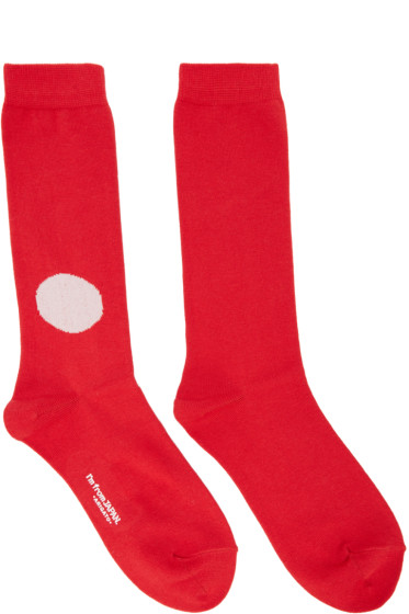 Blue Blue Japan - Red Japan Flag Socks