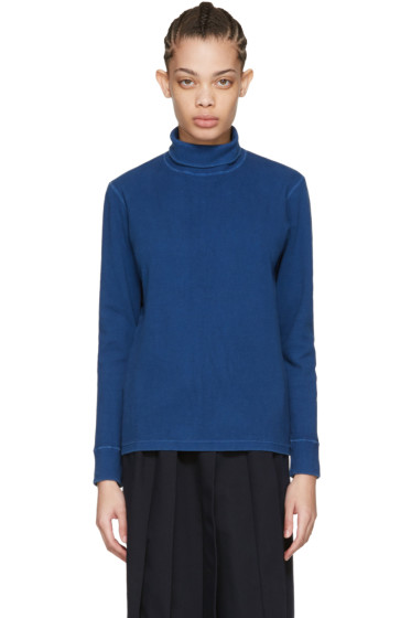 Blue Blue Japan - Blue Rib Turtleneck