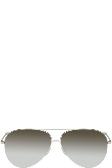 Victoria Beckham - Silver Classic Victoria Aviator Sunglasses