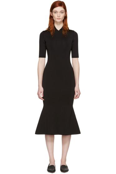 Victoria Beckham - Black Shine Flessage Dress