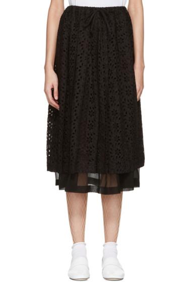 Tricot Comme des Garçons - Black Eyelet Lace Skirt