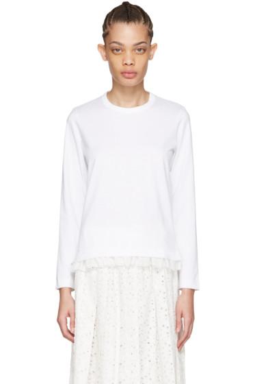 Tricot Comme des Garçons - White Frill T-Shirt