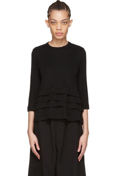 Tricot Comme des Garçons - Black Layered Ruffle T-Shirt