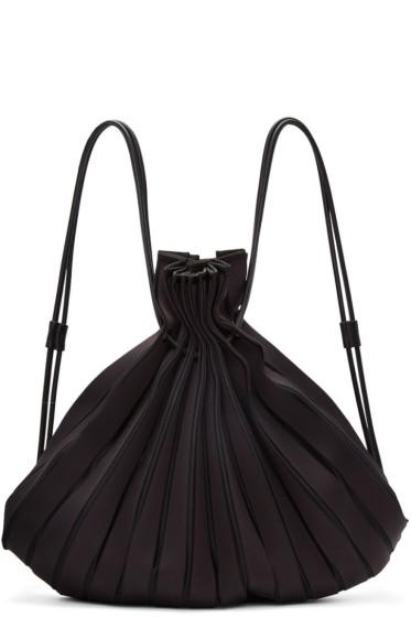 Issey Miyake - Black Linear Knit Rucksack