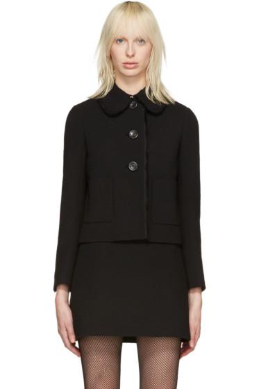 Miu Miu - Black Ruffle Jacket