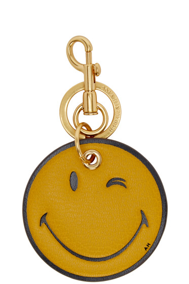 Anya Hindmarch - Yellow Wink Keychain