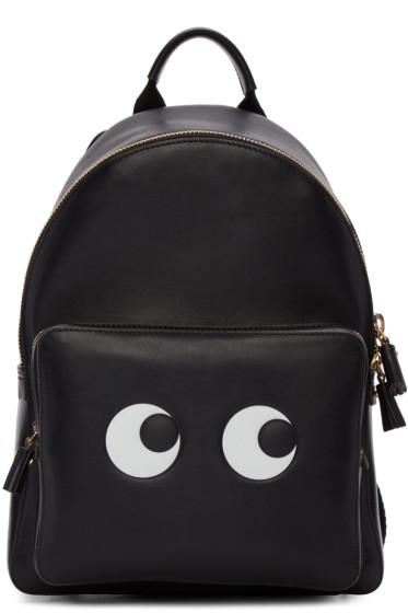 Anya Hindmarch - Black Mini Eyes Right Backpack