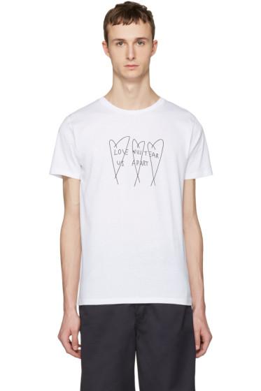 Nasaseasons - White 'Love Will Tear Us Apart' T-Shirt