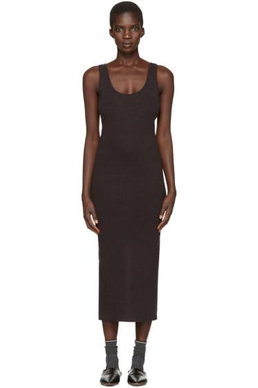 Lauren Manoogian - Grey Cotton & Cashmere Dress