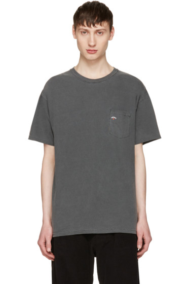 Noah - Grey Pocket Logo T-Shirt