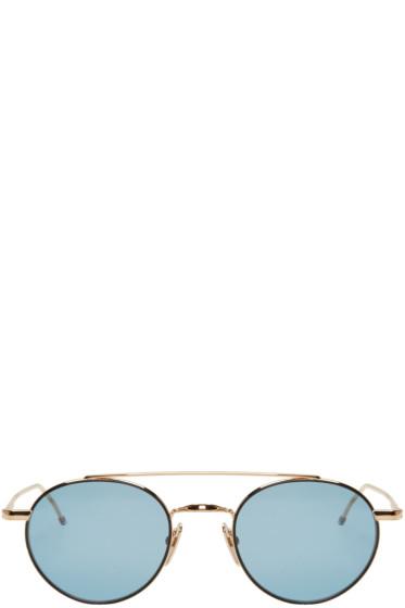 Thom Browne - Gold TB 101 Sunglasses
