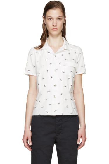 Visvim - White Poplin Printed Shirt