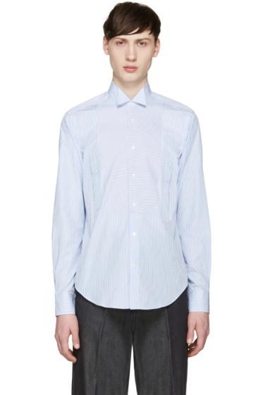 Loewe - Blue & White Striped Shirt