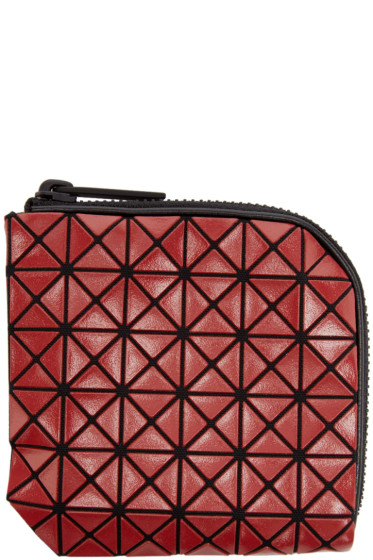 Bao Bao Issey Miyake - Red Geometric Matryoshka Zip Wallet
