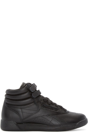 Reebok Classics - Black Freestyle High-Top Sneakers