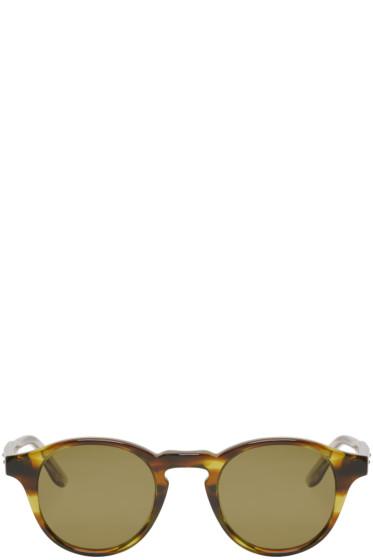 Bottega Veneta - Green Acetate Round Sunglasses