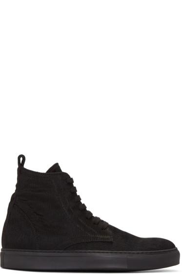 Ann Demeulemeester - Black Odyssey High-Top Sneakers