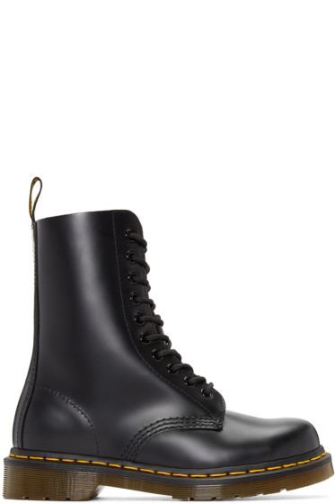 Dr. Martens - Black Ten-Eye 1490 Boots