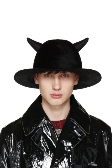 Undercover - Black Horned Rabbit Fur Hat