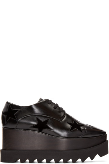 Stella McCartney - Black Star Platform Elyse Derbys