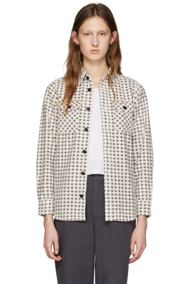 Visvim - Beige Flannel Gingham Shirt
