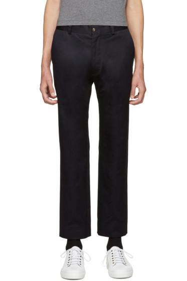 Moncler Gamme Bleu - Blue Twill Trousers