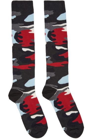 Moncler Gamme Bleu - Multicolor Camo Socks