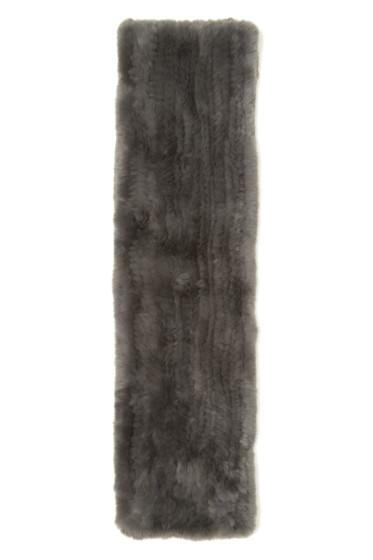 Yves Salomon - Grey Knit Fur Scarf