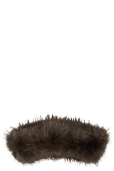 Yves Salomon - Brown Fur Collar