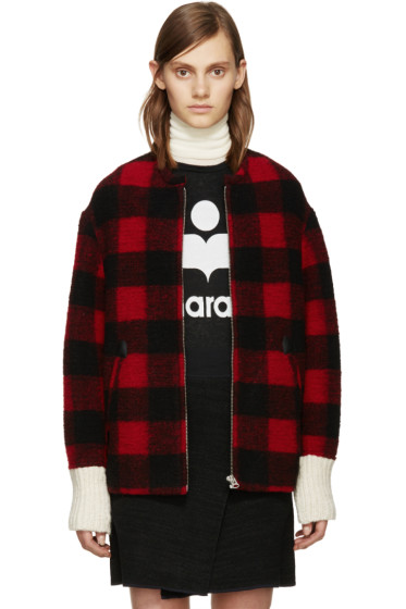 Isabel Marant Etoile - Black & Red Fimo Jacket