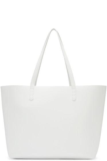 Mansur Gavriel - White Leather Large Tote
