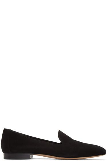 Mansur Gavriel - Black Suede Venetian Loafers