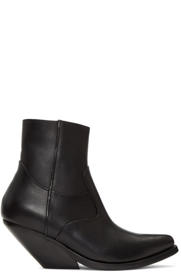 Vetements - Black Cowboy Boots