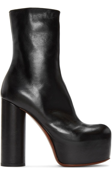 Vetements - Black Leather Platform Boots