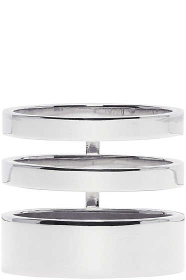 Repossi -  White Gold Triple Band Berbere Ring