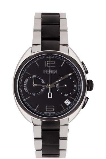 Fendi - Silver & Black Momento Watch