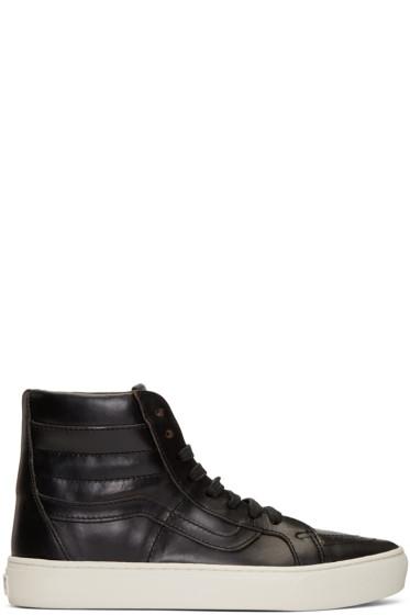 Vans - Black Horween Edition Sk8-Hi Cup LX Sneakers