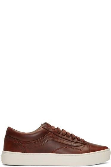 Vans - Brown Horween Edition Old Skool Cup LX Sneakers