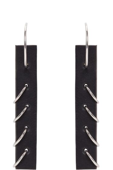 Ribeyron - Black Small Pierced Earrings