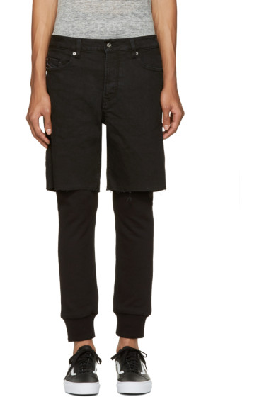 Diesel - Black D-Jasp Layered Trousers