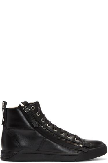 Diesel - Black S-Diamzip High-Top Sneakers