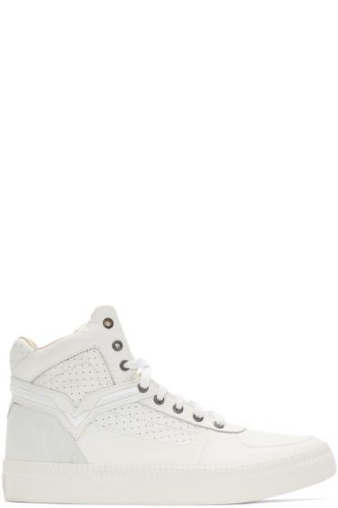 Diesel - White S-Spaark Mid-Top Sneakers