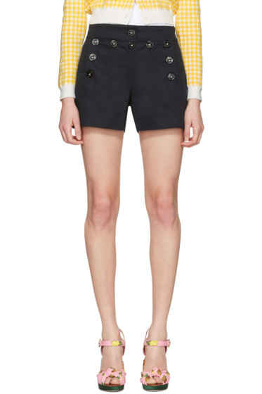Dolce & Gabbana - Navy Front Button Shorts