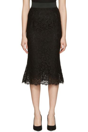 Dolce & Gabbana - Black Macrame Pencil Skirt