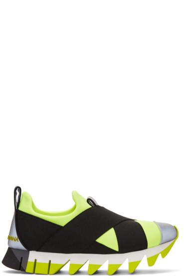 Dolce & Gabbana - Yellow Criss-Cross Sneakers