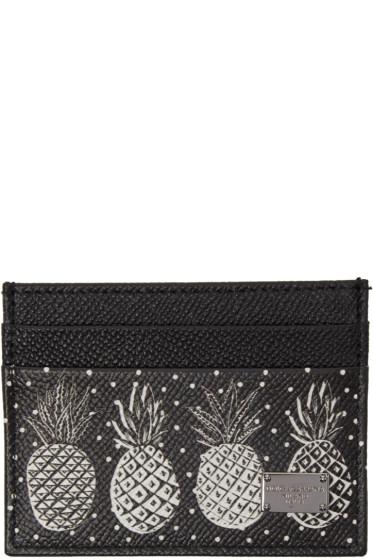 Dolce & Gabbana - Black Pineapple Card Holder