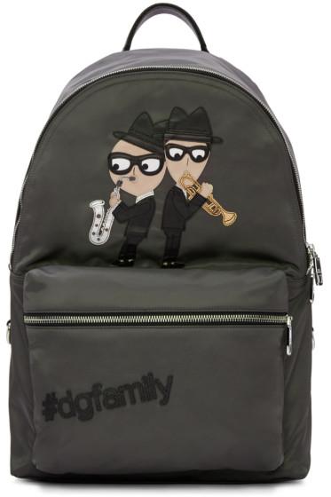 Dolce & Gabbana - Grey Nylon Jazz Players Backpack